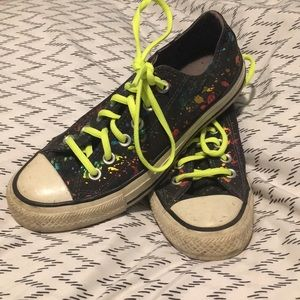 Converse Rainbow Paint Sneakers Size 7